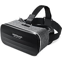 3D VR HAMSWAN SC-Y005 Lunette Casque de Réalité Virtuelle le plus Léger pour 3D Films et Jeux Compatibles avec iphone8 / iphone7/ iPhone 6S/6 Plus/6/5S/5C/5 Samsung Galaxy S5/S6/Note4/Note5 S6 et Autres Smartphones sous Android 4.0 à 6.0 (Gris)