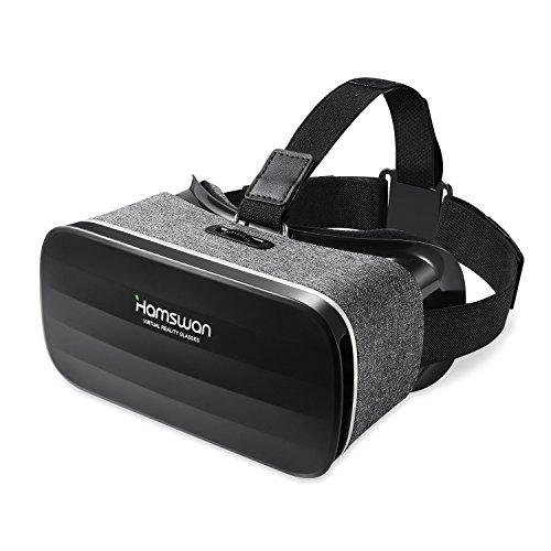 VR Brille für Handy, HAMSWAN 3D VR Gläser Brille Video Movie Game Brille Virtual Reality Headset für 3D Filme und Spiele Kompatibel mit iOS, Android und anderen Handys innerhalb von 4.0-6.0 Zoll Ultraleichtes Gewicht