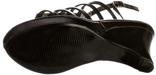 Unze Evening Sandals, Sandali con la zeppa donna Nero (Schwarz (L18801W))