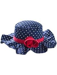 EOZY Chapeau pour Pêche/Plage Chapeau Soleil à Large Bord Bleu pour Bébé/Fille Petit