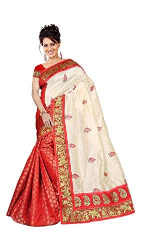 Aksh Fashion women's Cotton Silk saree with heavy zari border work &...