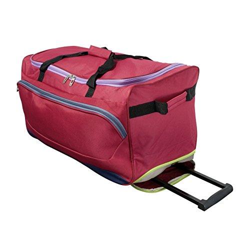 Trolleytasche - Calgary Reisetrolley Sporttasche Trolley Reisetasche mit Rollen Nylon-Tasche - Trolley Rot rot