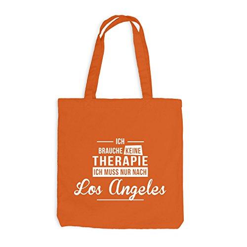 Jutebeutel - Ich Brauche Keine Therapie Los Angeles - Therapy Urlaub USA Orange