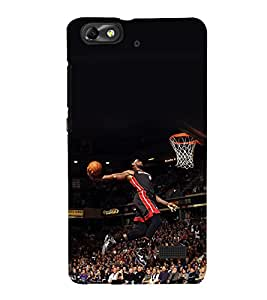 printtech Basketball Stadium Player Back Case Cover for Huawei G Play Mini