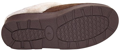 New da interni scivolare sul letto in finta pelliccia Muli tacco donne calde pantofole scarpe Snuggle-Brown