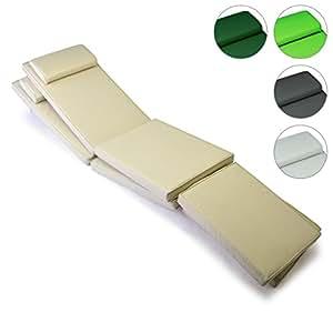 nexos divero 2er set sitzauflage stuhlkissen sitzpolster f r gartenm bel steamer deckchair. Black Bedroom Furniture Sets. Home Design Ideas