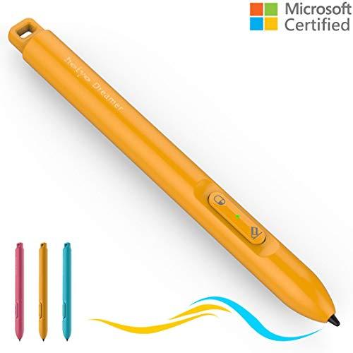 Microsoft zertifizierter Dreamer Surface Stift mit 200 Stunden Betriebszeit 360 Tage Standby, Aktiv 4096 Stufen Stift kompatibel mit Surface Go/ Pro 3/ Pro 4/ Pro 2017, Surface Laptop / Book /Studio -