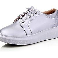 ZQ hug Zapatos de mujer-Tacón Plano-Comfort / Punta Redonda-Oxfords-Exterior / Casual / Deporte-Materiales Personalizados-Azul / Rojo / Oro , blue-us6.5-7 / eu37 / uk4.5-5 / cn37 , blue-us6.5-7 / eu37
