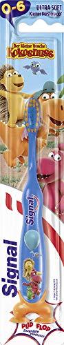 Signal Kids Zahnbürste (für Kinder, im Alter von 0 bis 6 Jahren, Ultra Soft mit praktischen Saugnäpfen) (6 Stück)