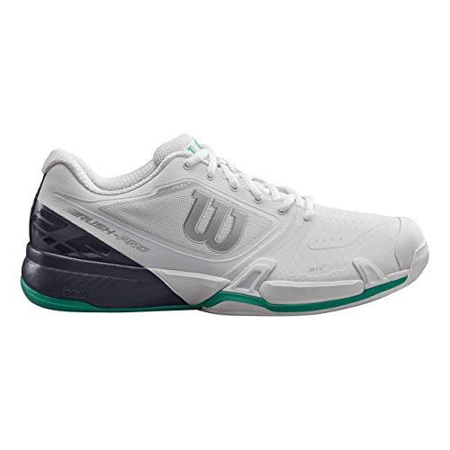 Wilson Rush PRO 2.5 2019 CC, Scarpe da Tennis Uomo, Bianco (White/Ebony/Deep Green), 49 1/3 EU