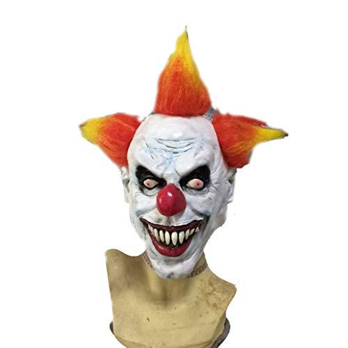 WFTD Halloween Clown Silikon Maske, Horror-Clown Zombie Mumie Stirnband Maske Erwachsenen Kostüm Party Cosplay (Einzel - Mumie Zombie Kostüm