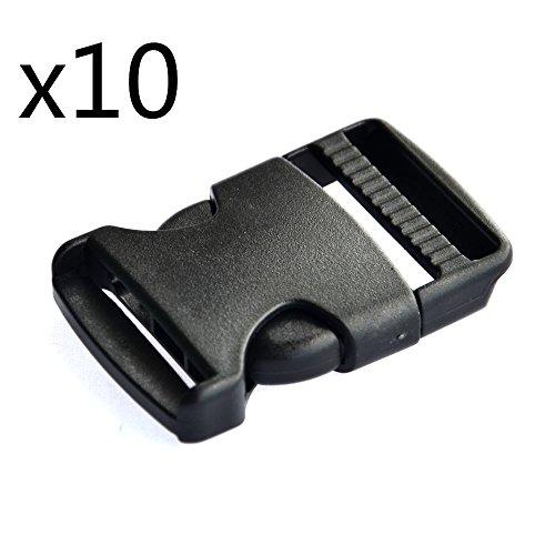 easywisdom-10-pcs-2-inch-50mm-black-flat-heavy-duty-single-adjustable-side-release-plastic-buckles-f