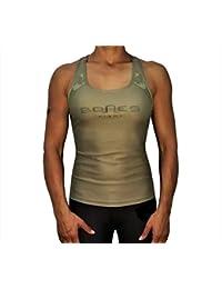 8f60bb0e1f Bones Fight Tank Top Damen Sport top, Yoga, Racerback, Lauftop Fitness  Running Shirt