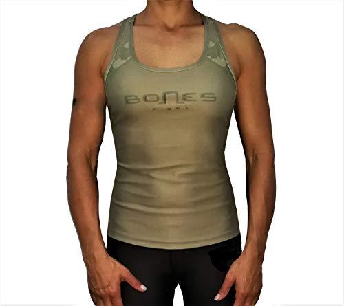 Bones Fight Tank Top Damen Sport top, Yoga, Racerback, Lauftop Fitness Running Shirt Top Camouflage (S) - Bones Tank Top