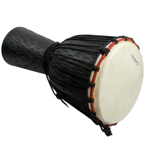 """World Rhythm 9"""" Djembe Drum - 50cm African Wooden Djembe Drum - Ideal for Students"""