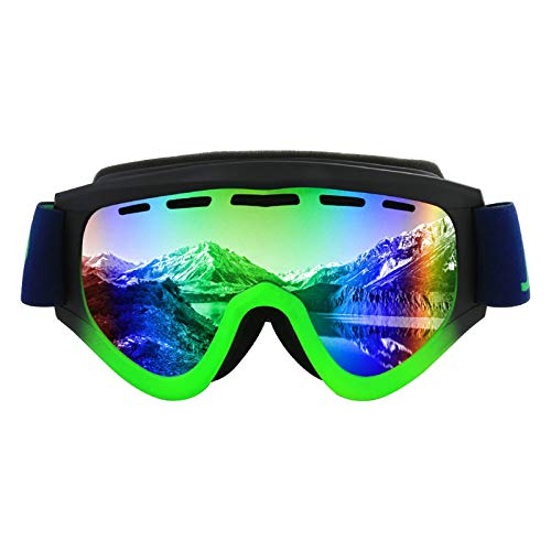 Aeici Sportbrille PC Radbrille Frauen Schutzbrille Antibeschlag Schwarz Grün