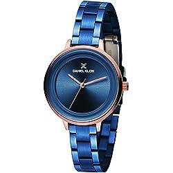 Daniel Klein Analog Blue Dial Women's Watch-DK11373-3