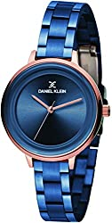 Daniel Klein Analog Blue Dial Womens Watch-DK11373-3