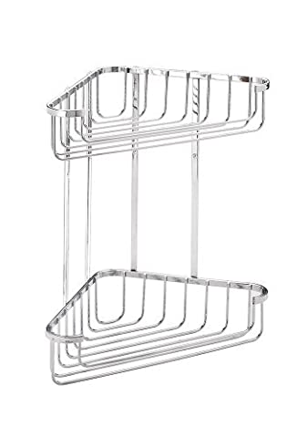 Croydex Rust Free Two Tier Stainless Steel Large Corner