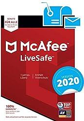 McAfee LiveSafe 2020 | Eine unbegrenzte Anzahl an Geräten | 1 Jahr | PC/Mac/Smartphone/Tablet | Aktivierungscode per Post