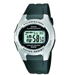 Casio Casio Men's Quartz Digital Watch with Black Dial Digital Display and Black Resin Strap W42H/1A