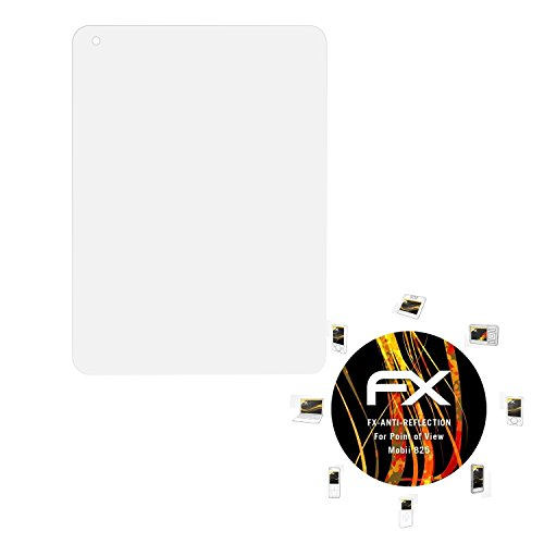 atFolix Panzerfolie kompatibel mit Point of View Mobii 825 Schutzfolie, entspiegelnde & stoßdämpfende FX Folie (2X)