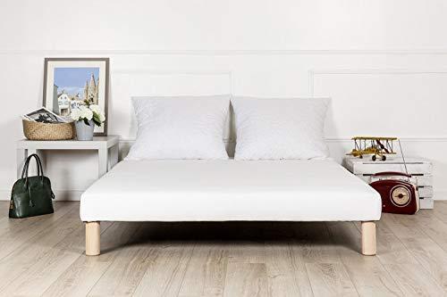 by sommiflex Sommier tapissier 140x190 Fabrication française Pieds Offert