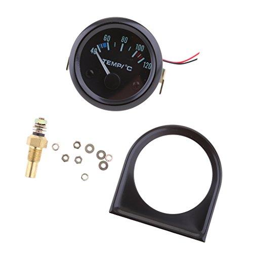 MagiDeal 52mm LED Medidor de Temperatura de Agua Soporte Sensor Indicador para...