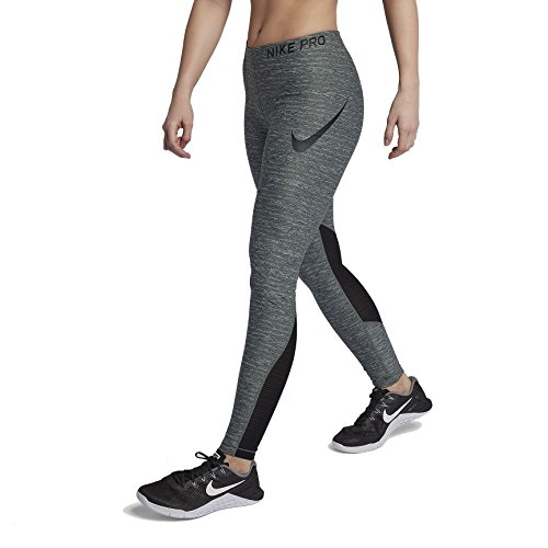 Nike W NP tght Heather leggings, femme Multicolore - vert/noir (vintage green/htr/Black)
