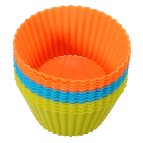 Meta-U 6pcs Silicone Cupcake Bread Mousse, Jelly, Chocolate, Cake Case Moulds MuffinMould Tins Cookware Bakeware