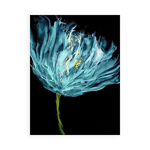 DìMò ART Druck auf Leinwand auf Poster oder Bild Österin Vanessa Aqua Tulips I -