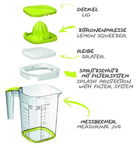 Rotho 1026005070WS Loft Back-Messbecher mit verschiedenen Aufsätzen, Skala und Deckel, Kunststoff (BPA-frei)