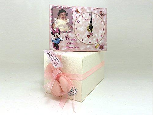Bomboniera battesimo bimba orologio personalizzato con foto