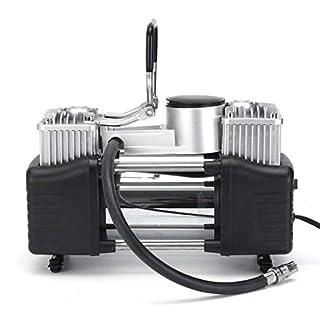 Casavidas 12V 150PSI Double Cylinder Air Pump Compressor Tire Tyre Inflator for Car Bike Van