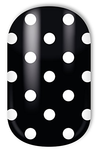 MISS SOPHIE'S Nagelfolie -'Little White Dots', Punkte Weiß auf Schwarz, 20 selbstklebende Nail Wraps
