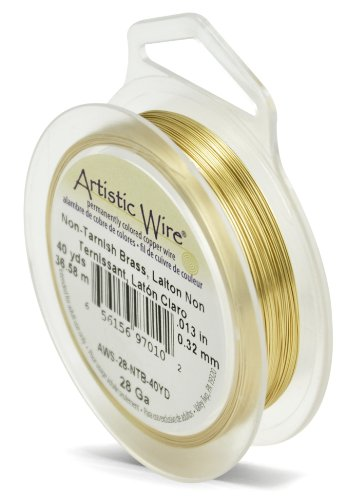 Artistic Wire Fil de Laiton Non ternissant Calibre 28 40 m