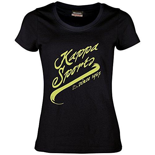 Kappa Tallulah T-shirt à manches courtes pour femme Noir - noir