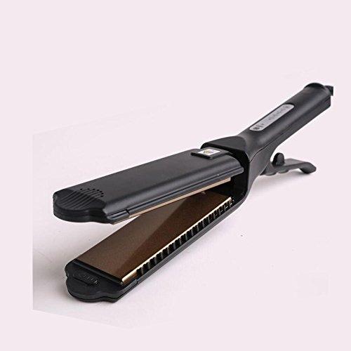 szsyr-titanium alisador de cabello profesional ultra amplia Tire hacia fuera junta 5termostato negativo hierro Perm 2en 1Recta y Curl
