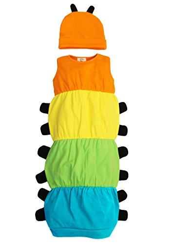 Baby Moo Caterpillar Baby Bademantel Set/Kostüm Outfit-Quirky Mädchen oder Jungen Baby Geschenk von Baby Moo-Raupe Nimmersatt inspiriert Baby Kostüm-Set