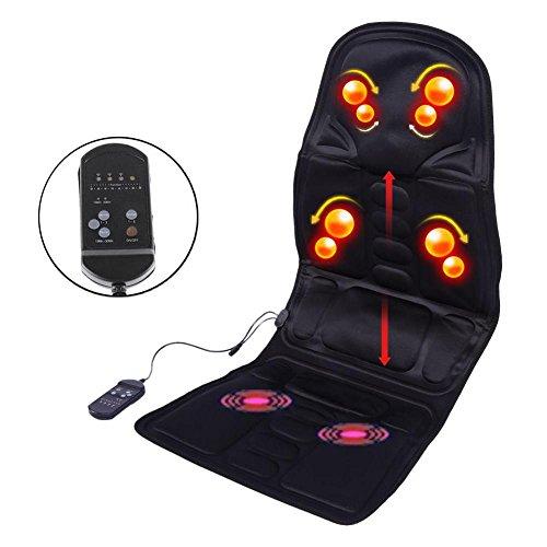 Schiena massaggiatore vibrations sedile cuscino per il massaggio del corpo ventilato per il riscaldamento a 8 motori per le gambe del collo posteriore per il relax dell'automobile, della casa