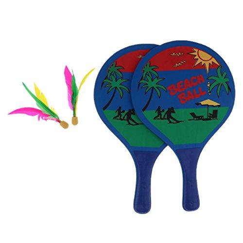 Sharplace Ballsport Set Strandball Badminton Federball Schläger Cricket Bälle Familie Training Kinder Büro Outdoor Sport