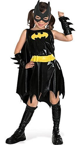 Mädchen Offiziell DC Comics Deluxe Batgirl Batman Halloween Büchertag Woche Film Comicbuch Kostüm Kleid Outfit 3 - 10 jahre - Schwarz - Schwarz, Mädchen, EU 128-140, - Batman-film-halloween-kostüme