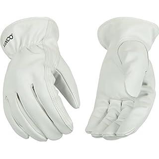 Kinco 92 Unlined Grain Goatskin Leather Drivers Glove, Work, Medium, Gray (Pack of 6 Pairs)