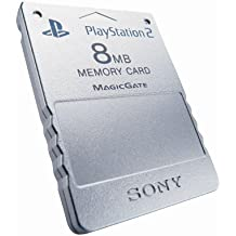 Playstation 2 Memory Card satin silver