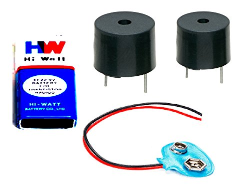 Generic 2P Buzzer 5V with Hi-Wi 9V Battery and Connector for DIY