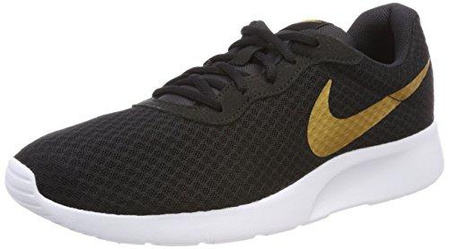 Nike Wmns Tanjun, Scarpe da Ginnastica Donna Nero (Black/metallic Gold 004)