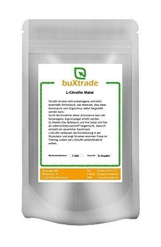 2 x 1 kg L-Citrullin Poudre Malate - L Citruline DL-Malat 2:1 Fitness Pump Sport 2 kg