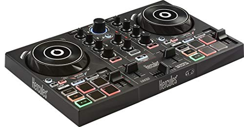 Hercules DJControl Inpulse 200 (2-Deck DJ Controller, Beatmatch Guide, IMA, 8 Pads, integr. Soundkarte, DJ Academy, DJUCED, PC / Mac)