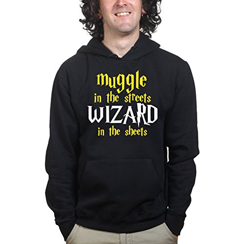 Muggle In The Streets Wizard in The Sheets Funny Magic Hoodie Hoody