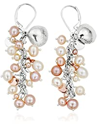 Clogau Gold Silver and 9ct Rose Gold Welsh Beachcomber Drop Earrings
